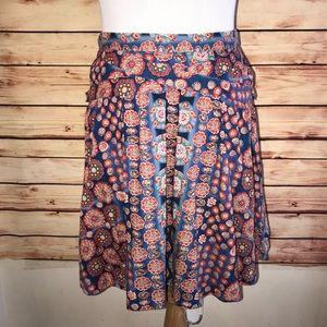 Marc Jacobs Cotton A Line Kaleidoscope Skirt